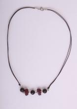 Granát rhodolit - náhrdelník