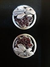 manžetové knoflíčky - český granát ve stříbře