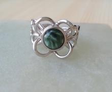 prsten Serafinit ve stříbře