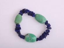 Chryzopras + Lapis lazuli