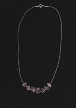 Křišťál - ručně pletený náhrdelník