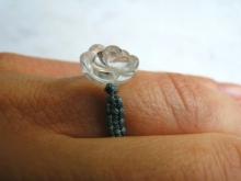 Křišťálová růže - prsten