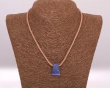 Lapis lazuli - ručně pletený náhrdelník