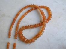 Měsíční kámen oranžový - šňůra