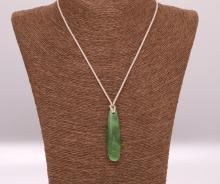 Nefrit - ručně pletený náhrdelník