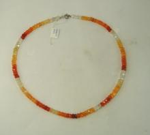 Ohnivý opál - náhrdelník