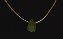 Olivín - pletený náhrdelník (prodáno)
