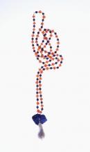náhrdelník Lapis - Perla - Karneol