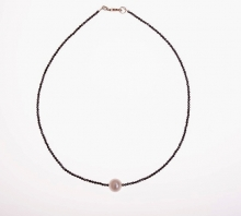 náhrdelník - hematit + perla (prodáno)