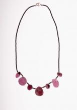 náhrdelník rubíny + hematit