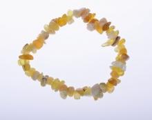 náramek - žlutý opál